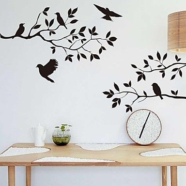 ZOOYOO® Cute Colorful animal PVC Removable bird fly above the tree of Wall Stickers Hot Selling Wall Decals Home Decor – EUR € 10.90