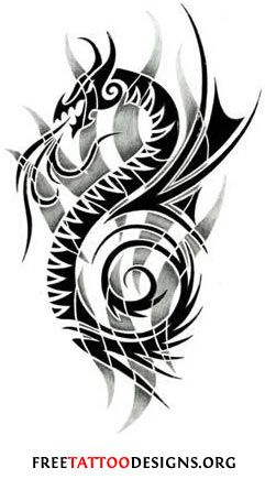 5bde649ee Tribal dragon tattoo with flames in the background | my sleeve ...
