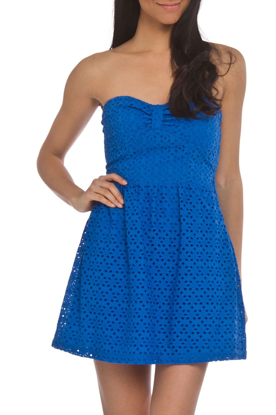 Freckels maureen dress in french blue beyond the rack to
