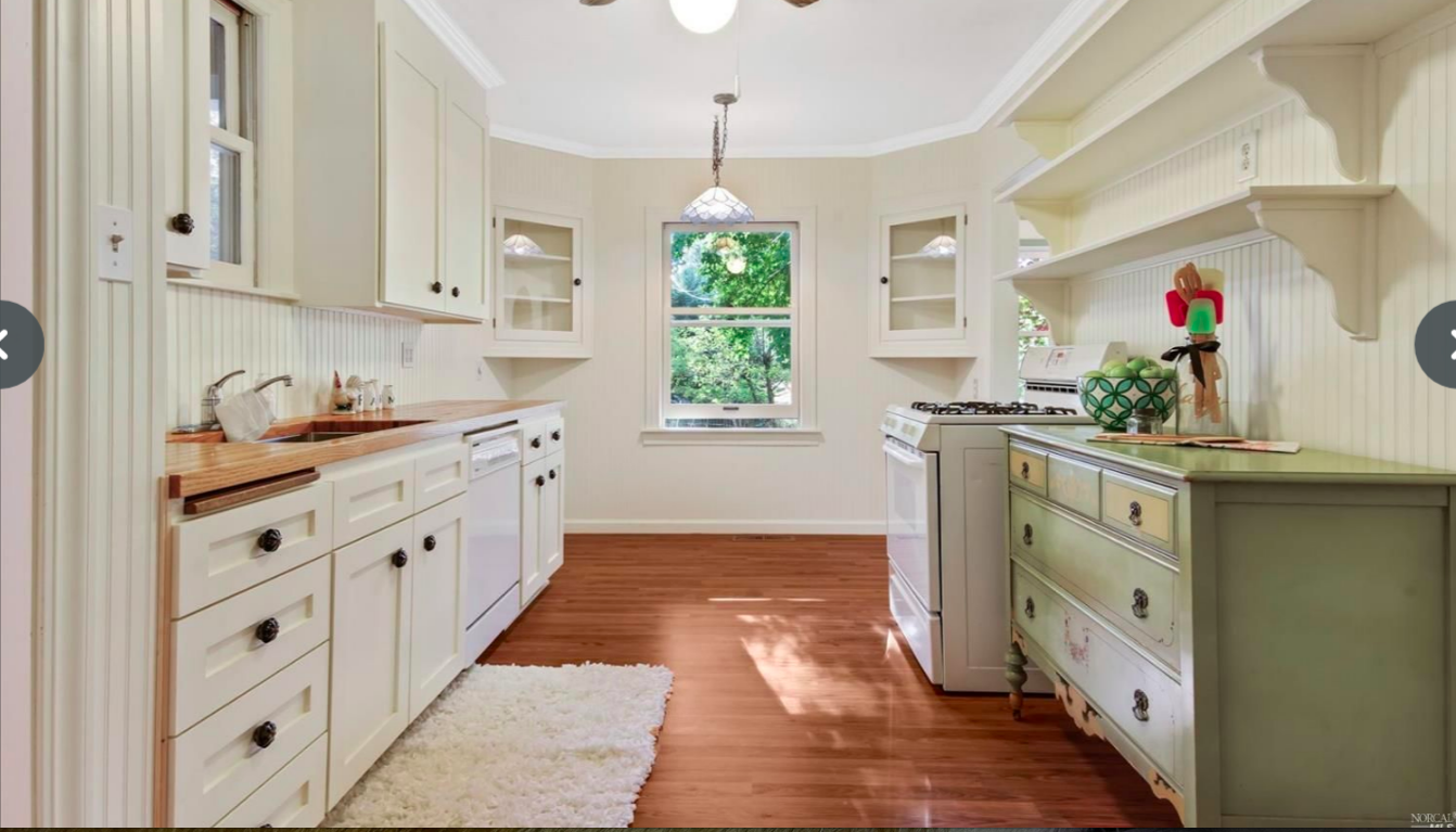 Using An Old Dresser Instead Of A Built In Kitchen Cabinet Found This Image In An Ad For A House That Was For Kitchen Redo Built In Cabinets Kitchen Cabinets