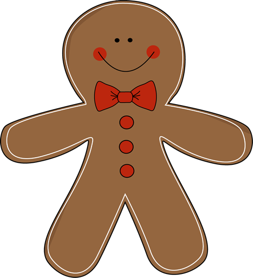 gingerbread man wearing a bow tie clip art gingerbread party rh pinterest com au