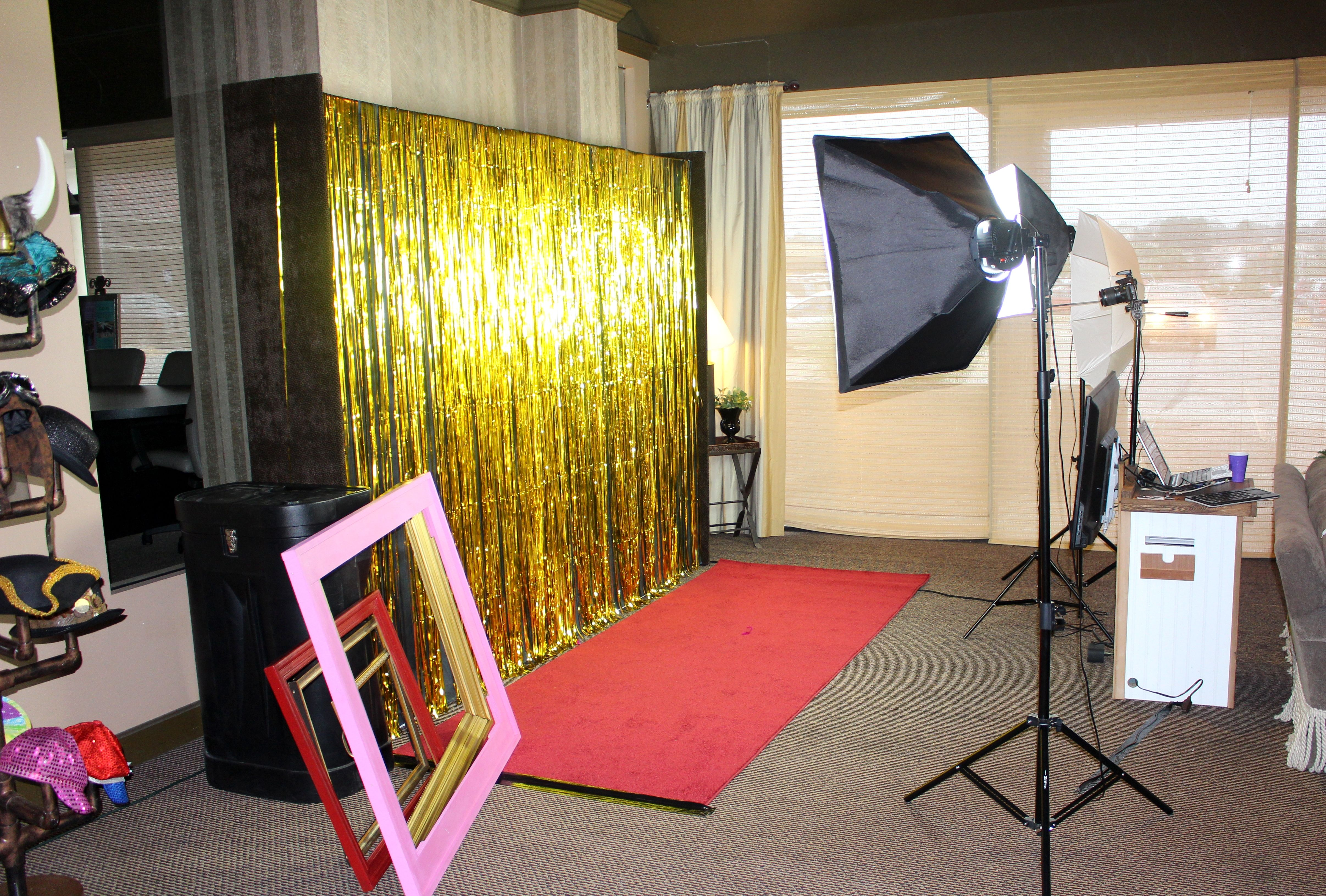Our Red Carpet Photo Booth At The Teah Ballroom Dance Studio
