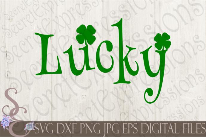 Download Lucky Svg, Shamrock, Clover, St. Patrick's Day, Digital ...