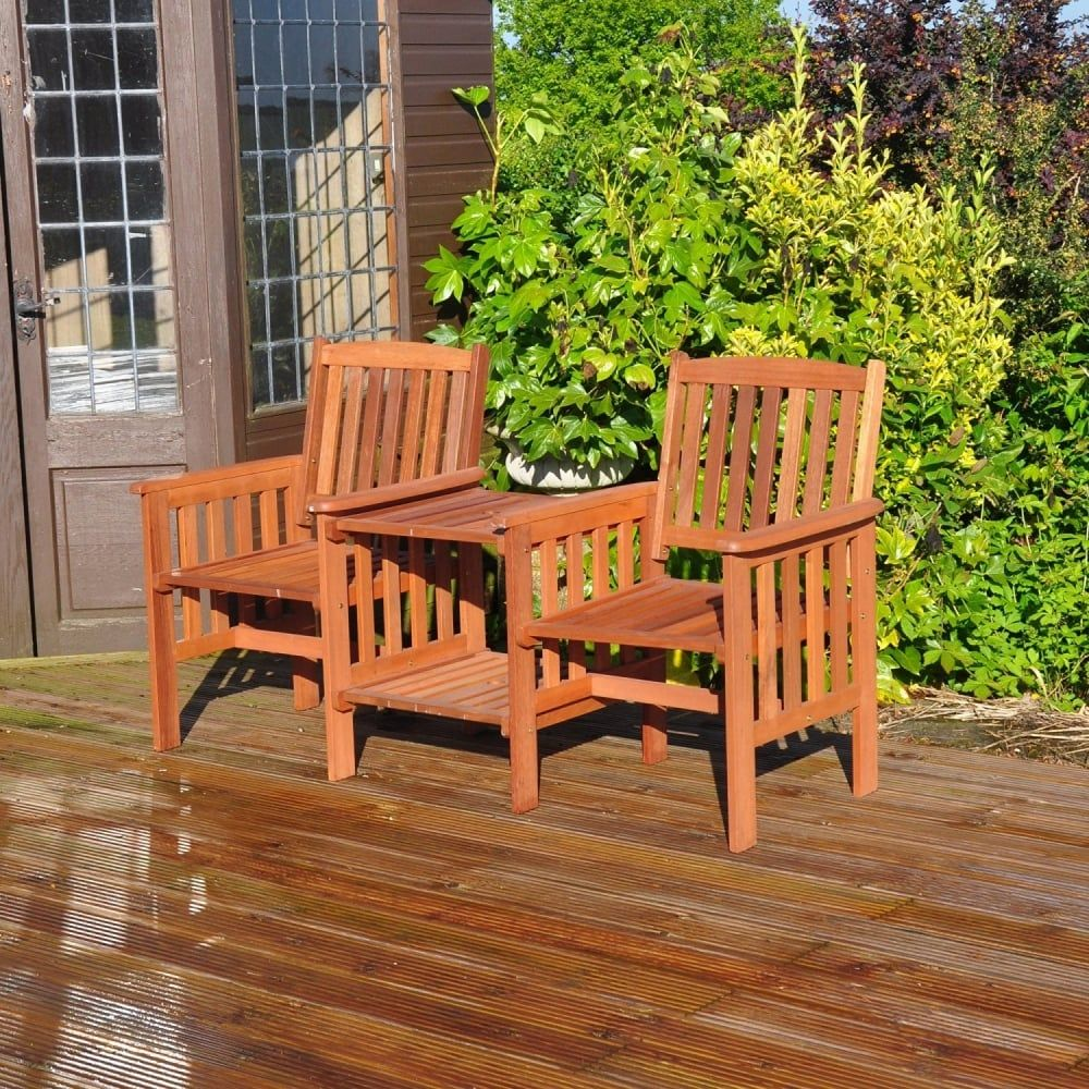 love seat wooden garden furniture tj hughes price 7999 - Wooden Garden Furniture Love Seats