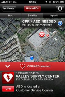 The PulsePoint mobile app alerts CPRtrained bystanders to