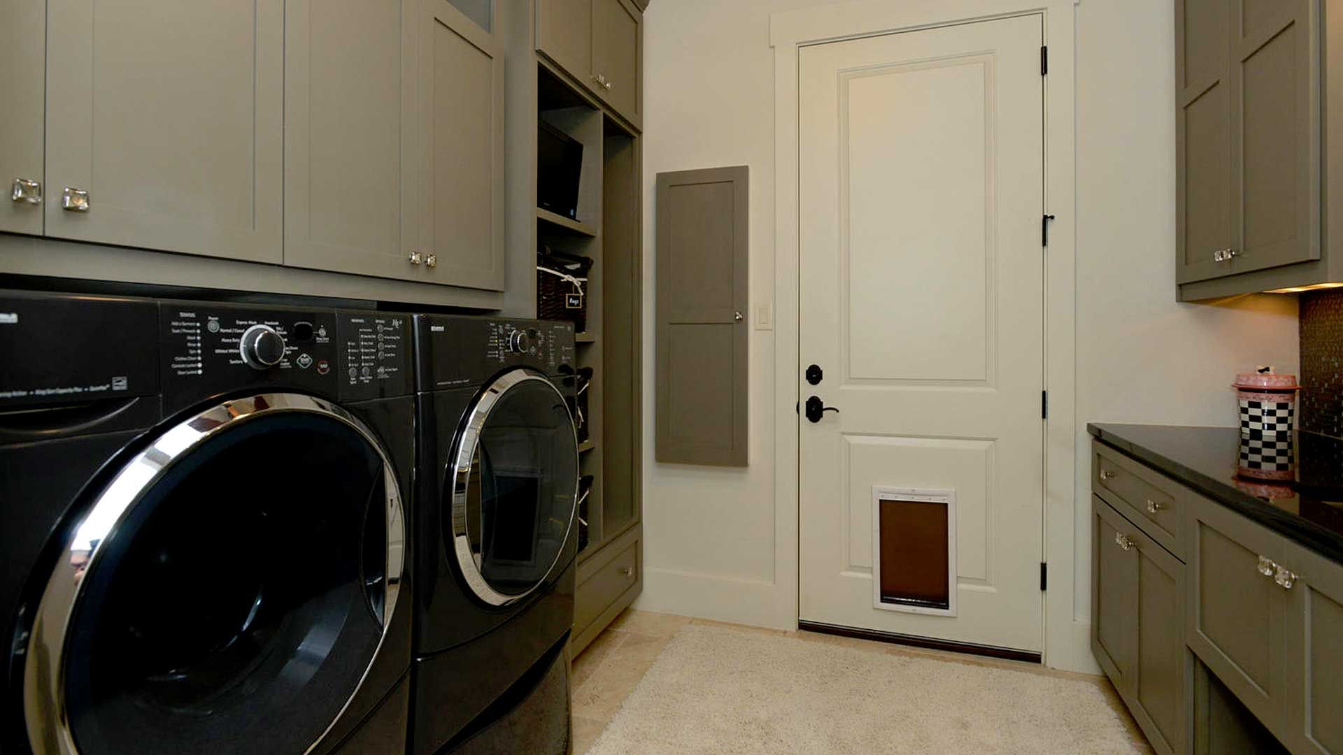 Blue Laundry Rooms