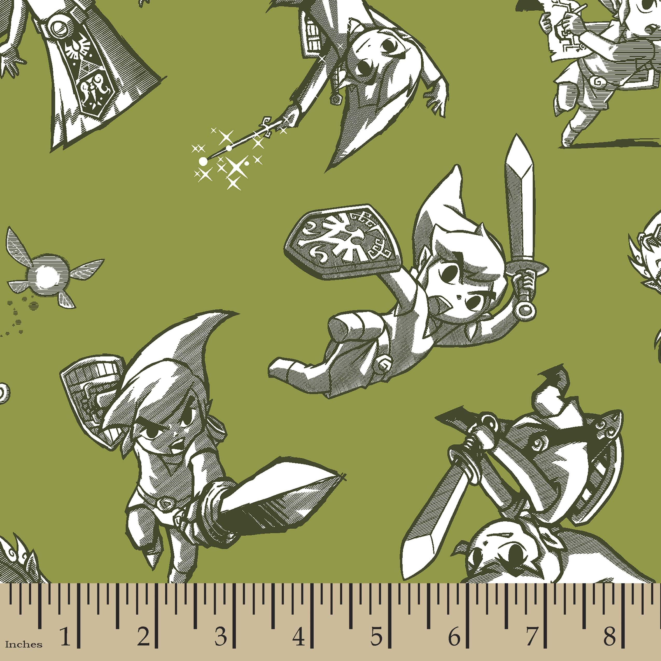 Nintendo the legend of zelda print fabric nintendo and products