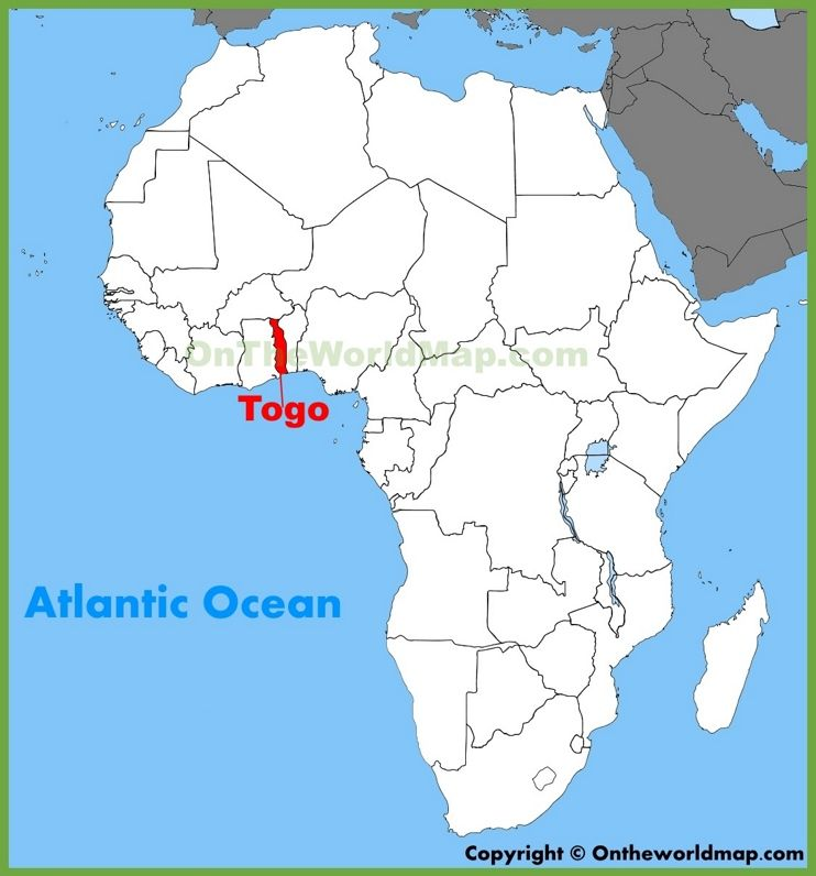 Togo Map In Africa Togo location on the Africa map | Africa map, African map, Map