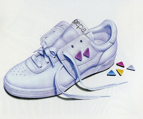 45313454edc14 Kaepa tennis shoes with double laces - I remember the cheerleaders ...