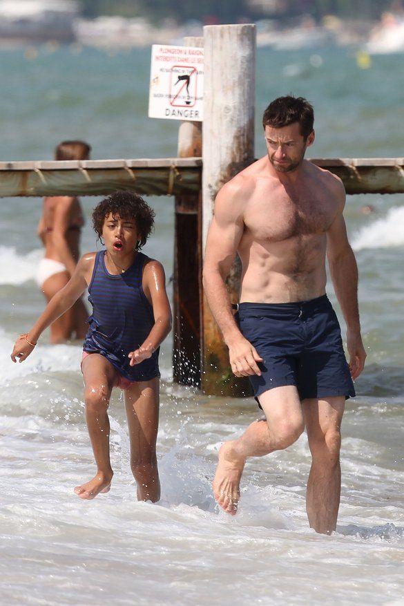 Oscar and his dad Hugh...