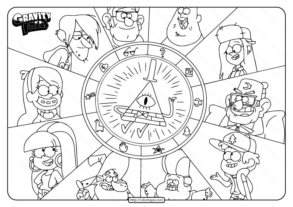 Printable Gravity Falls Characters Coloring Pages In 2020 Gravity Falls Characters Gravity Falls Book Gravity Falls Art
