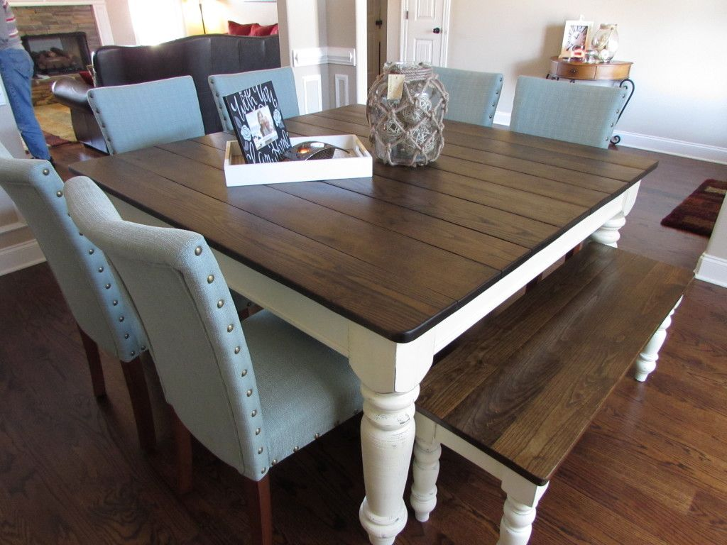"60"" SQUARE FARMHOUSE TABLE made in Covington, TN"