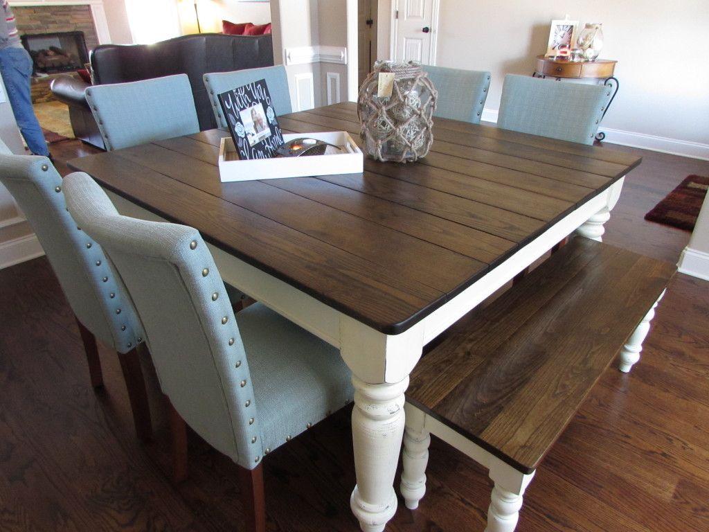 "60"" SQUARE FARMHOUSE TABLE made in Covington, TN"
