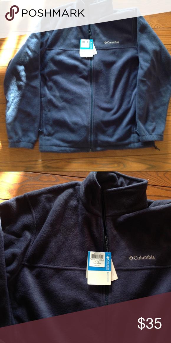 397e28b21c3 Mens Columbia Fleece Mens zip up Columbia fleece. Brand new from a smoke  free home. Navy blue. Columbia Jackets   Coats Lightweight   Shirt Jackets
