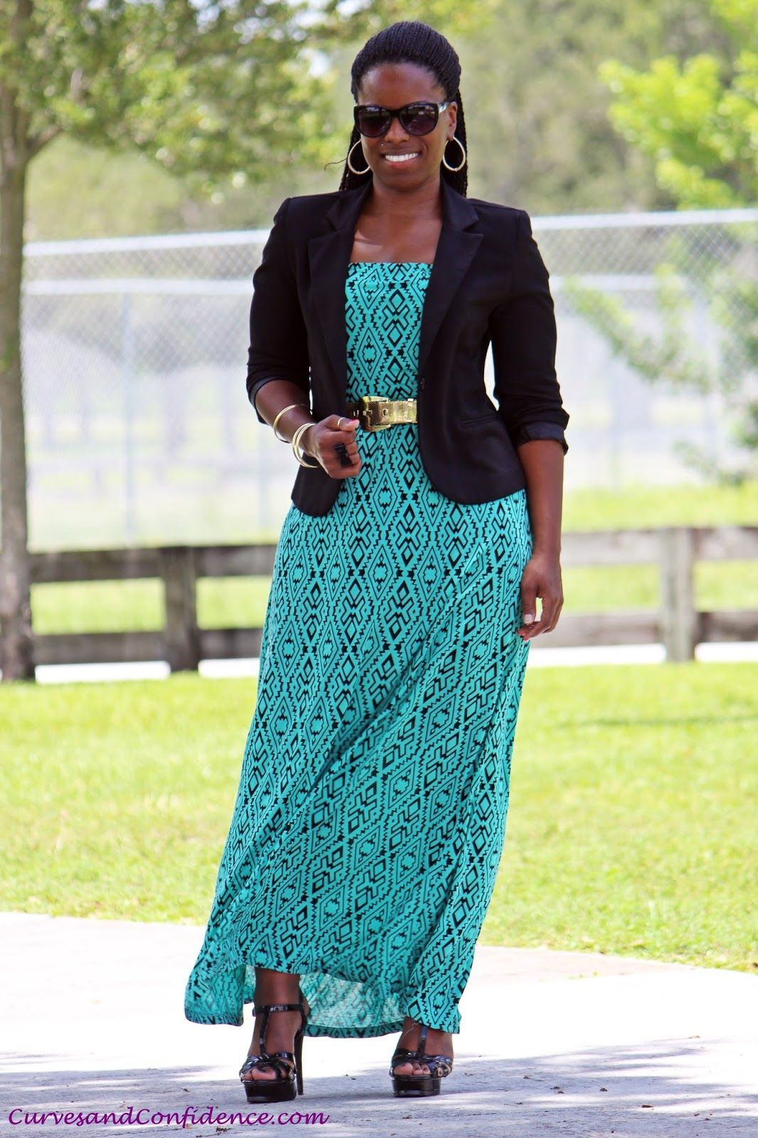 Maxi Dress and Blazer Outfit