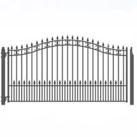 Brand New St Petersburg Style Single Iron Driveway Gate 12 X 6 With Images Single Swing Wrought Iron Driveway Gates Iron Gate Design