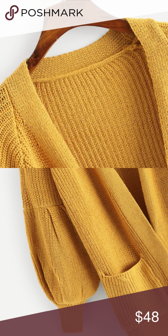 Mustard Color Cardigan Sweater