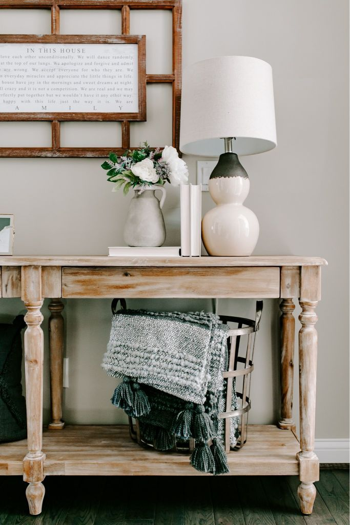 entryway refresh for under 200 with jenn pregler home on small entryway console table decor ideas make a statement with your home s entryway id=92348