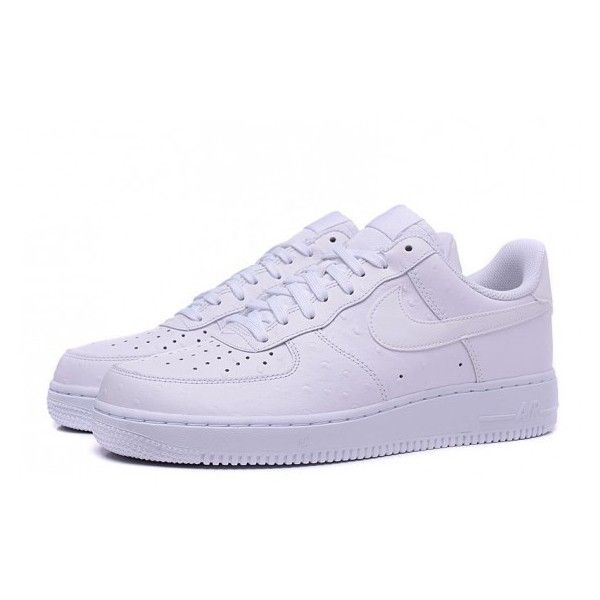 huge selection of 582a1 904a8 NIKE AIR FORCE 1 07 LV8 Ostrich Shoes White via Polyvore featuring shoes,  nike, ostrich shoes, white shoes, nike footwear and nike shoes