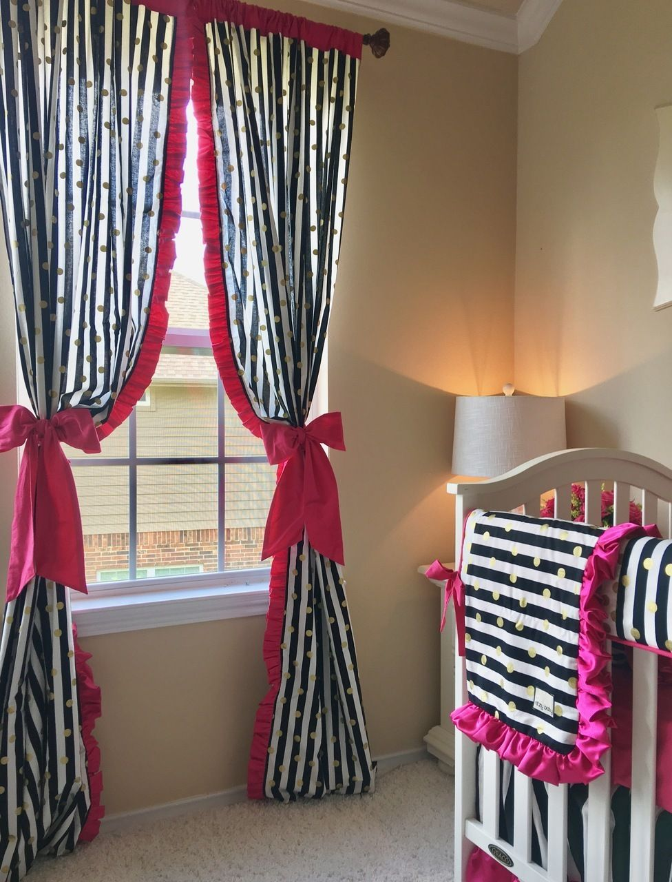 Love These Hot Pink Curtains With A Decorative Ruffle For A Girls