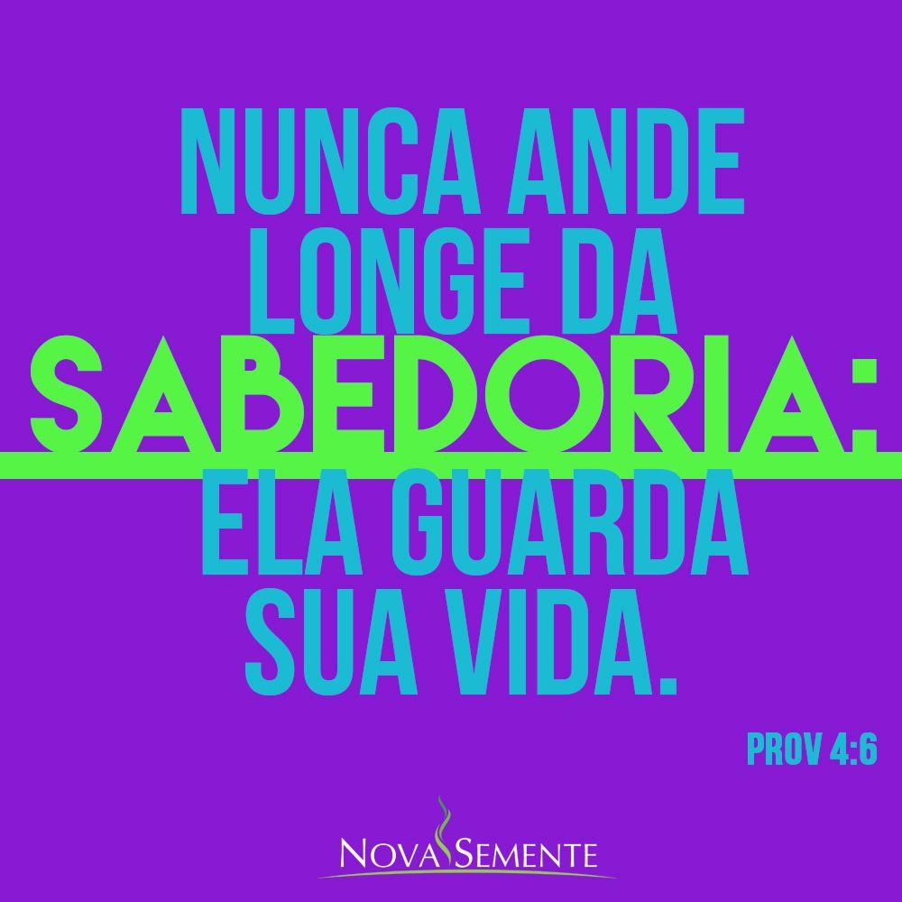 Favoritos Nova Semente - Frases da Bíblia - Versículos -Deus - Provérbios 4  IZ73