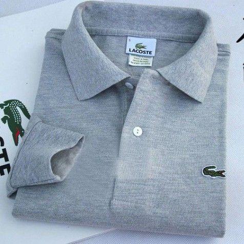 Lacoste Polo Long Sleeve Classic Shirt Grey    #CheapLacoste #CheapLacosteLongSleeve #Polos #LacostePolos #LacostePoloShirts #StylishLacosteShirts #LacosteForCheap