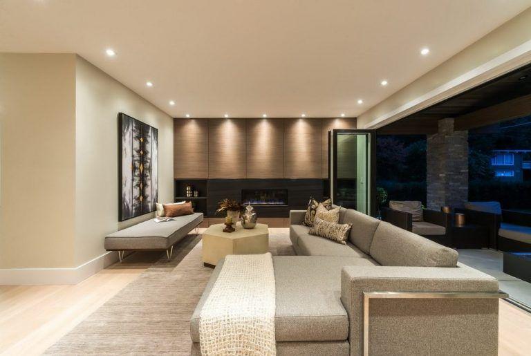ديكورات داخلية للمنازل العصرية تصاميم فلل كويتية من الداخل قصر الديكور L Shaped Living Room Living Dining Room Room