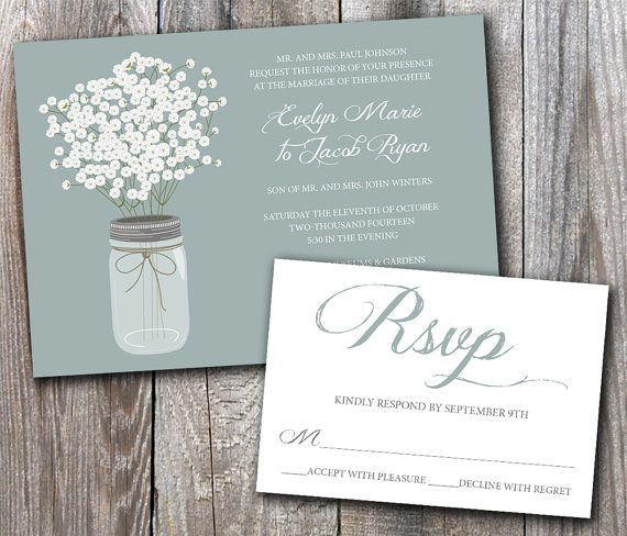 Pin By Adrienne Holm On Wedding Invitations Babys Breath Wedding Wedding Invitation Samples Wedding Invitations