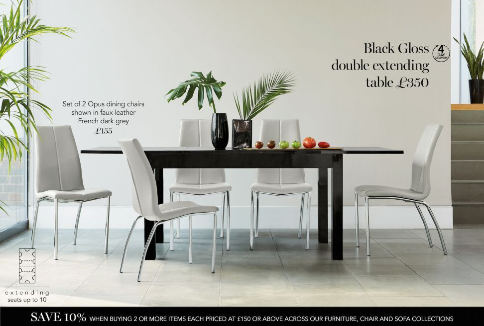 Dining Room Furniture  Kitchen & Dining  Home & Furniture  Next Gorgeous Dark Grey Dining Room Decorating Design