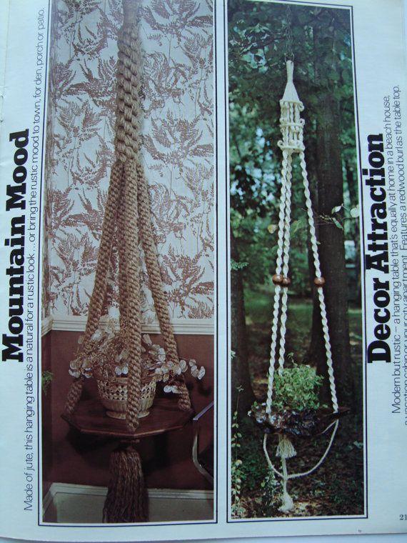 Macrame Patterns/Vintage Natural Knots Macrame Book ...