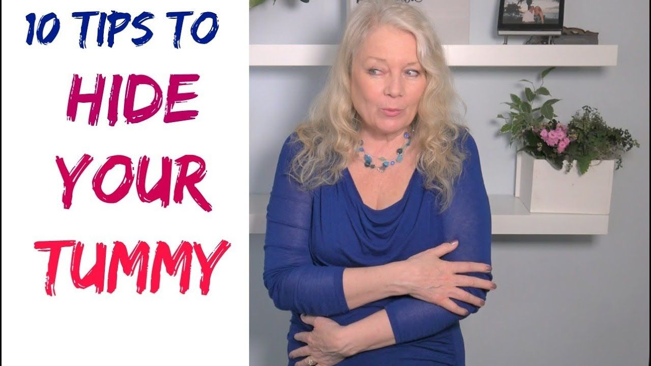42dae2a12 Slimming, Hiding, Flattening Tummy & Stomach, 10 Tips, mature women over 50  - YouTube