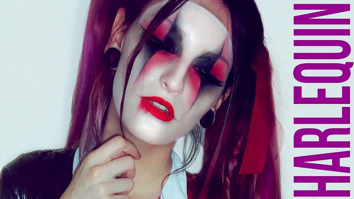 Suicide Squad Harley Quinn Halloween Makeup Tutorial Harlequin ...