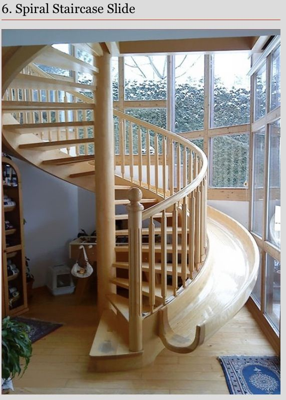 Spiral Staircase With Slide Dream House Staircase Slide Home