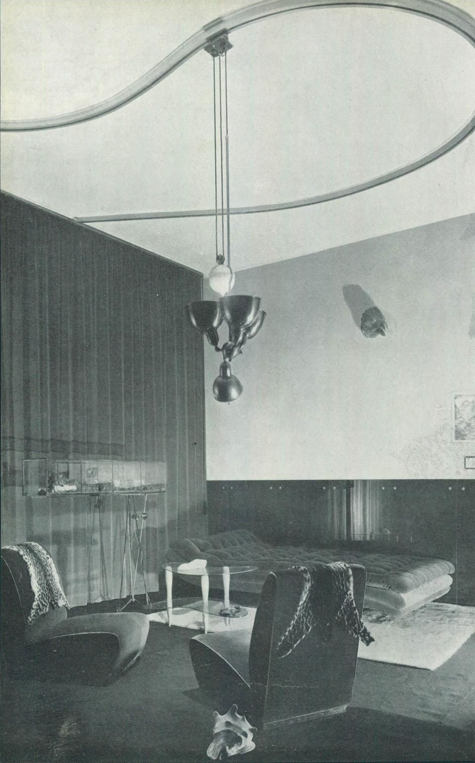 Mollino's Casa Miller An interior design by Carlo Mollino from 1938 was  defined at the time