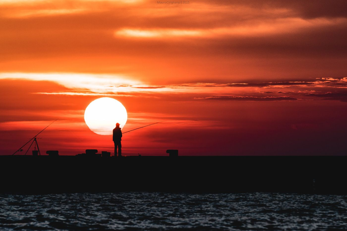 Fishing on the sunset by Mauro Cirigliano on 500px
