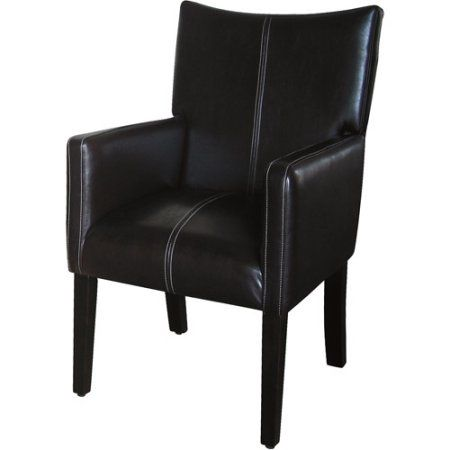 Kinfine Sched Armchair With Sloped Back Dark Brown Faux Leather