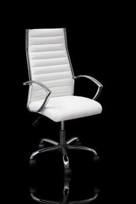 Design Burostuhl Chefsessel Big Deal Napalon Leder Weiss Design