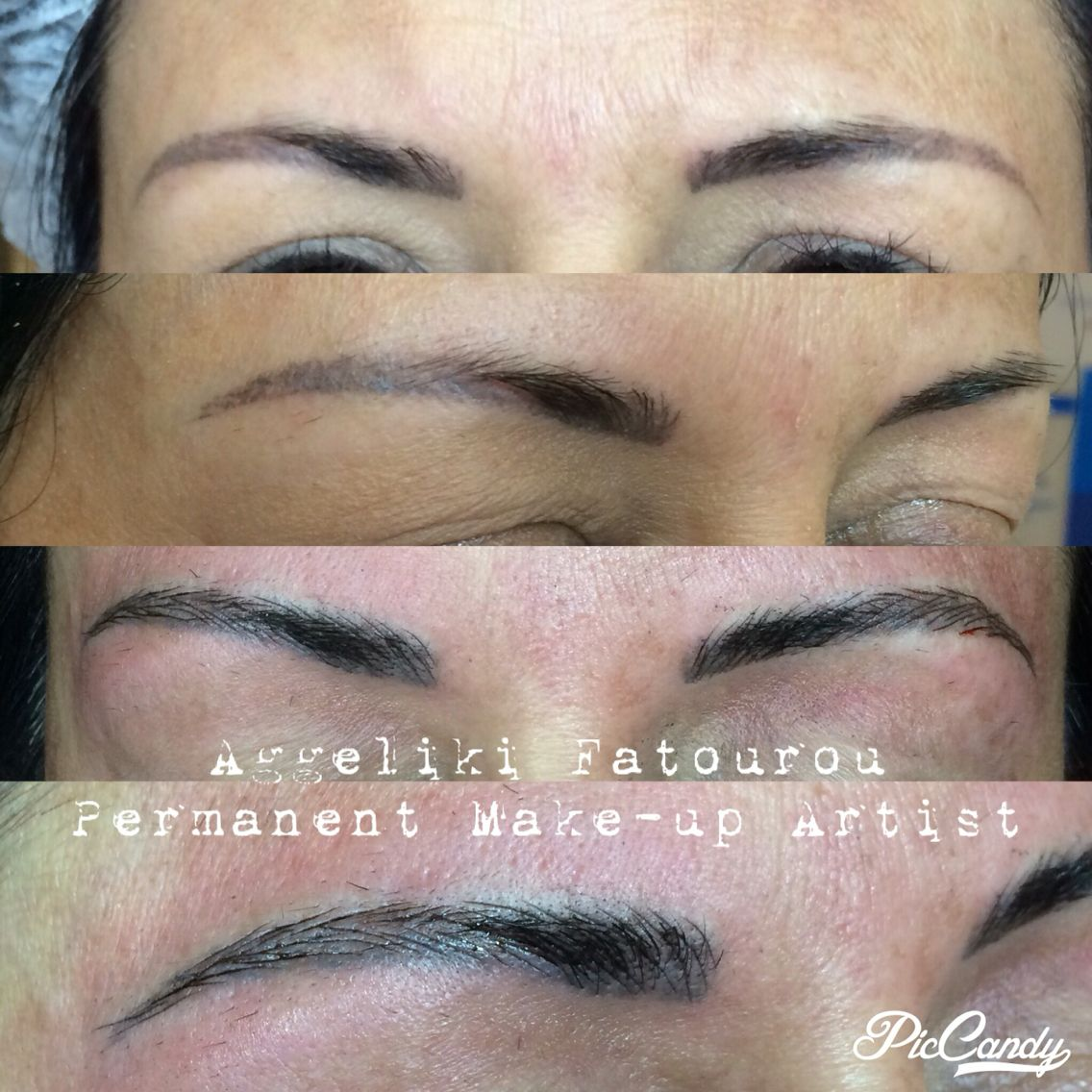 An old eyebrows tattoo correction. I fade it out with a
