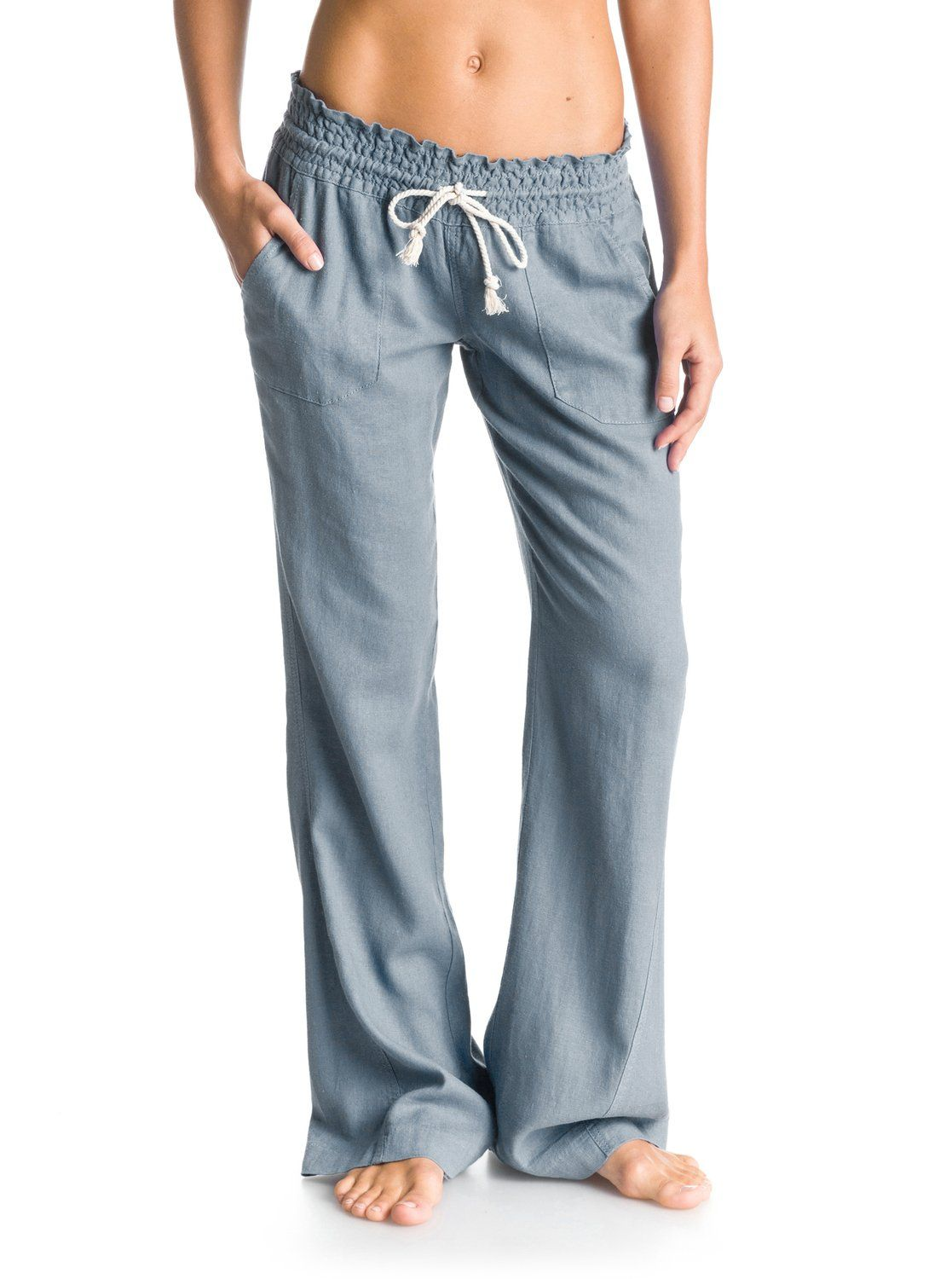 905e2dce08632c Oceanside Flared Linen Pants in 2019 | FASHION | Beach pants, Pants ...