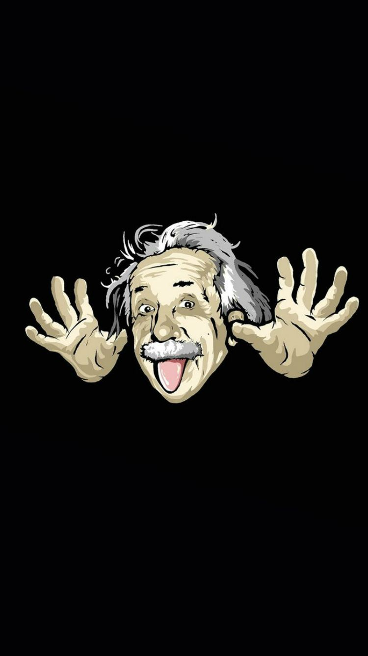 Albert Einstein 750 X 1334 Home Screen Wallpapers Available For Free Download