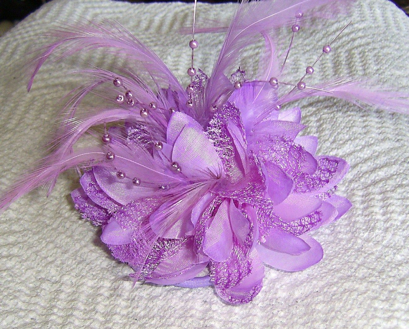 Another hair piece or brooch This one is sooo cute Little purple