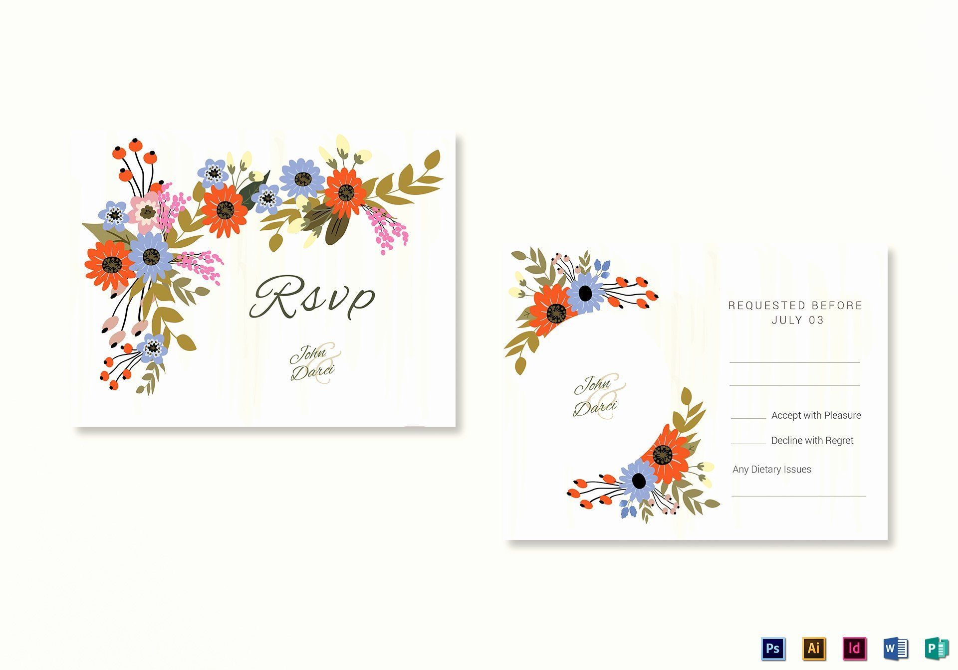 Rsvp Cards Templates Awesome Rsvp Card Templates For Word Monzarglauf Verband In 2020 Rsvp Wedding Cards Wedding Card Templates Wedding Cards