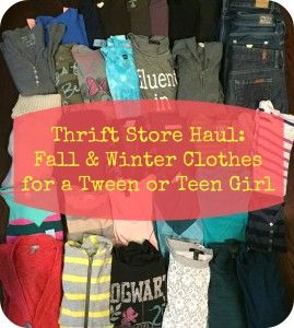 831650b45af Thrift Store Fall Haul  Great clothes for teen and tween girls to be found  on the thrift store racks  Crunchy Parent