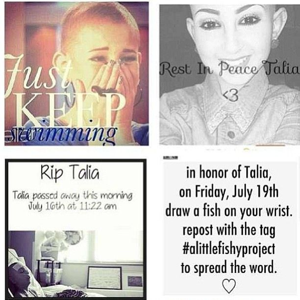 R.I.P Talia . This beautiful girl lost her fight to cancer this morning . You will truly be missed ❤