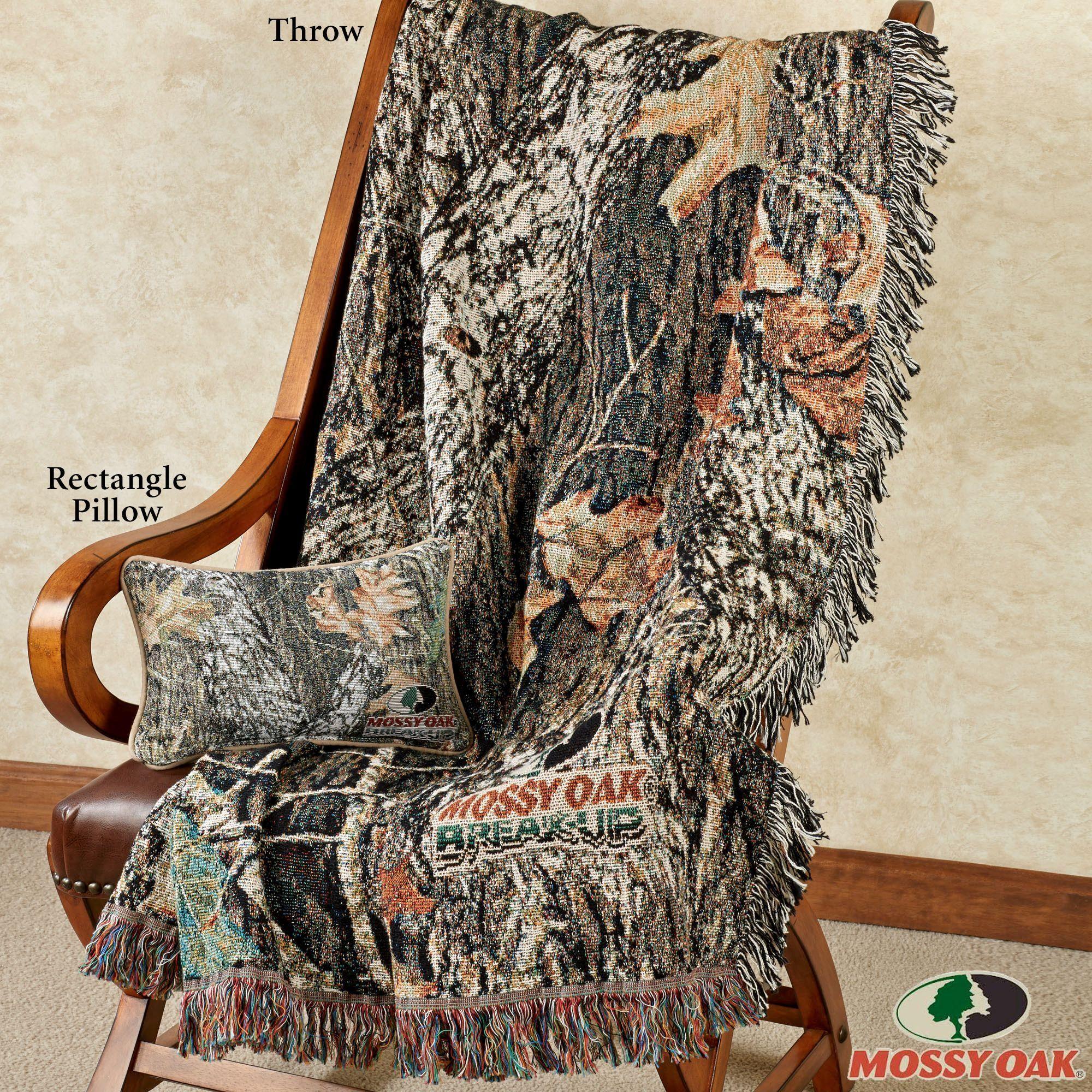 Mossy Oak Break Up Infinity Camo Throw Blanket or Pillow #howtodisguiseyourself