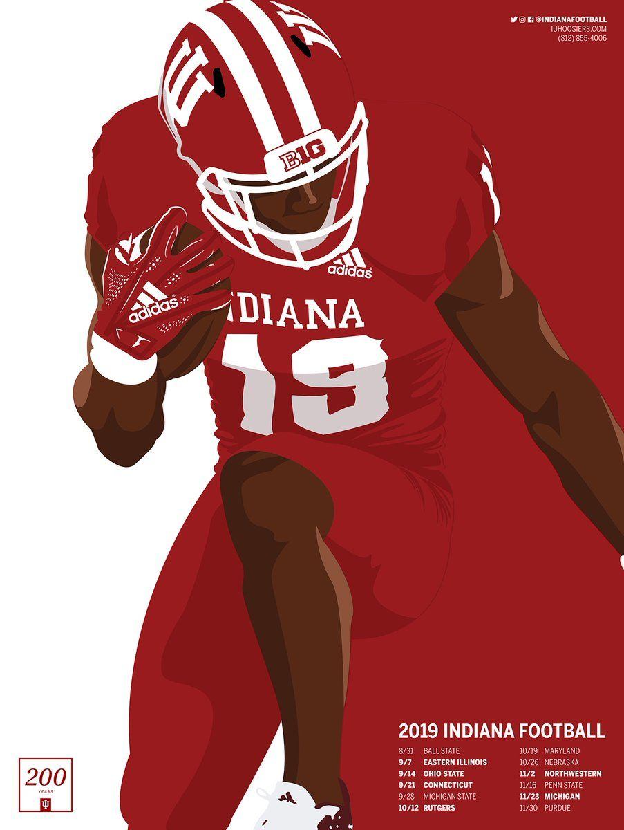 Indiana In 2020 Indiana Football Sports Graphic Design Eastern Illinois