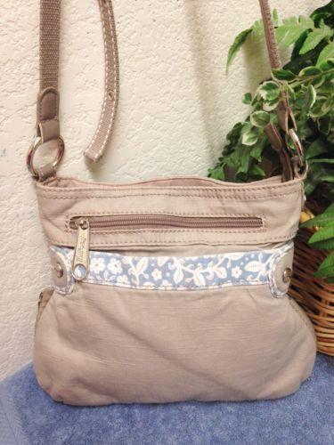 4f0a4ffa76af Thirty One 31 Pop Crossbody Bag Shoulder Handbag Gray Blue Floral  Expandable VGC