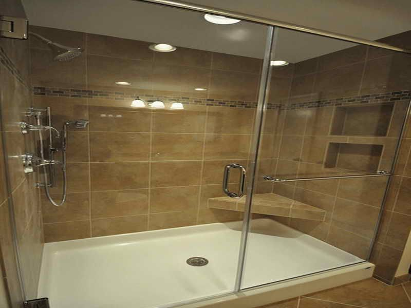 Pretty Shower Design Includes Instructions To Tile Over Fibergl Pan Diseños De Ducha