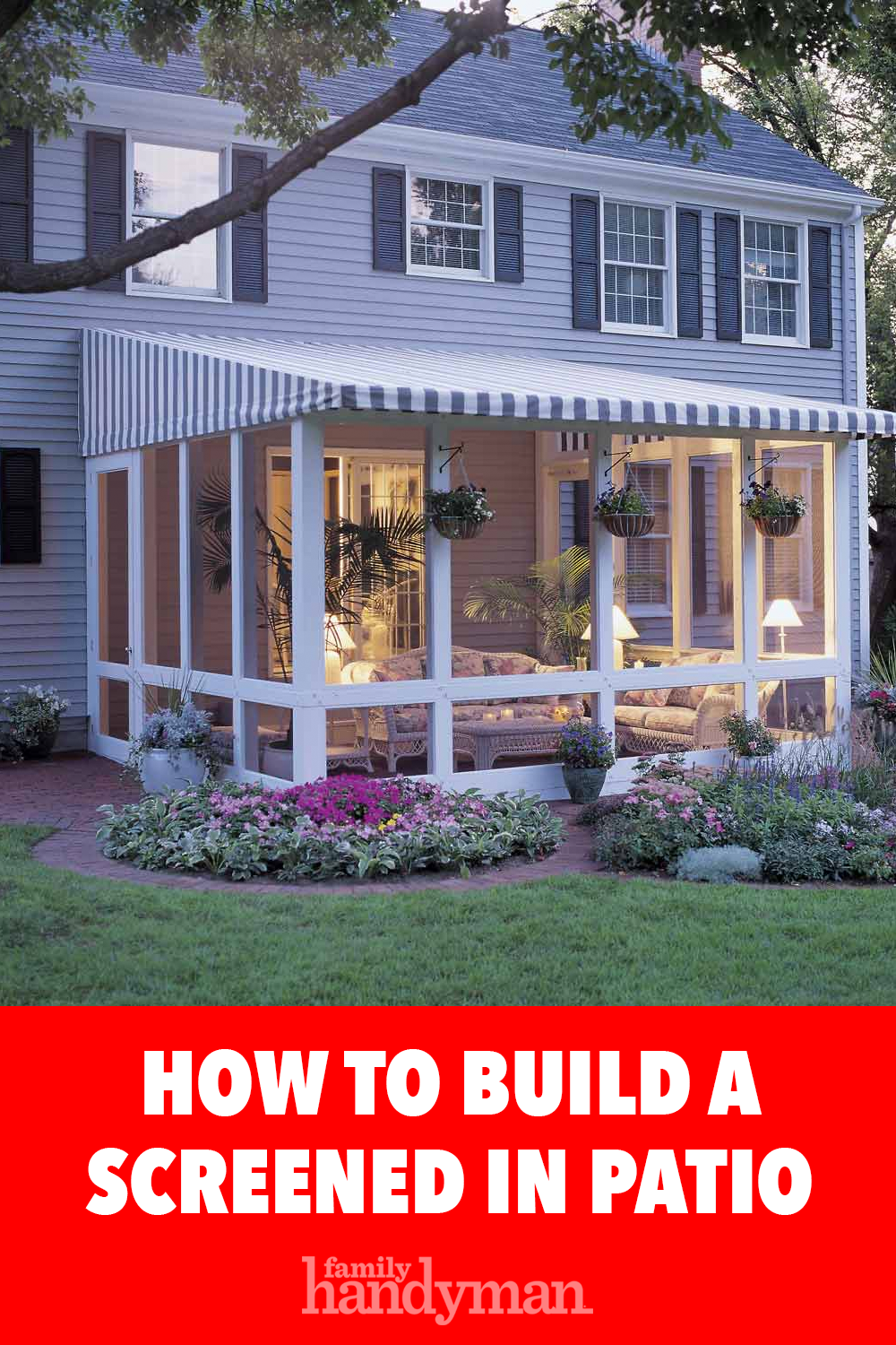 How to Build a Screened In Patio Screened in patio