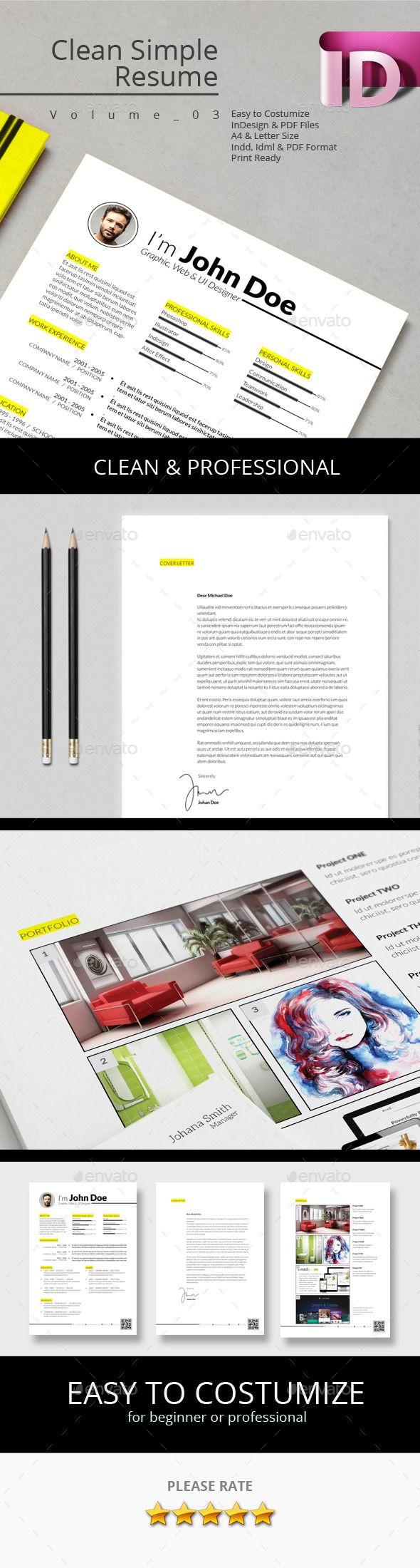 Clean Simple Resume V 03 Simple Resume Modern Resume And